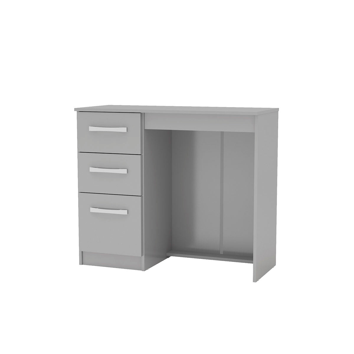 Heath 3 Drawer Dressing Table in Grey - Ezzo