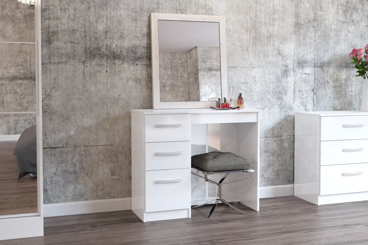 Heath 3 Drawer Dressing Table in White - Ezzo