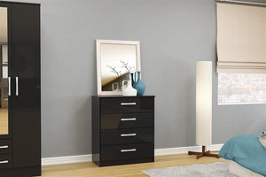 Heath 4 Drawer Chest in Black
