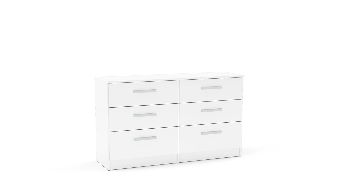 Heath 6 Drawer Chest in White - Ezzo