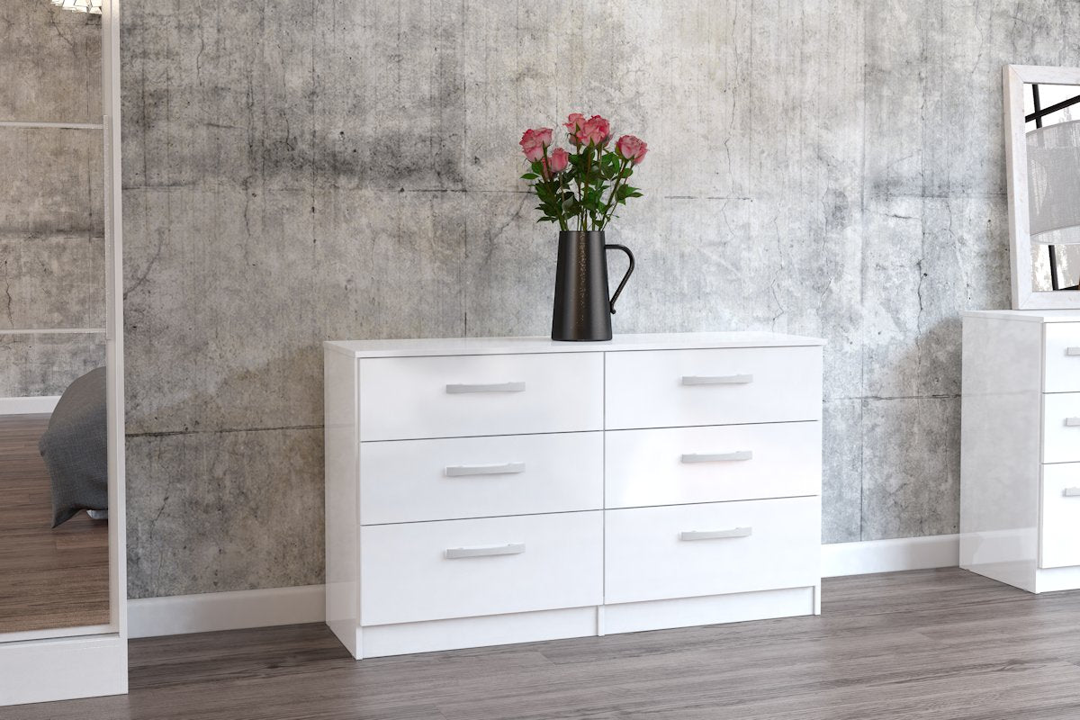 Heath 6 Drawer Chest in White