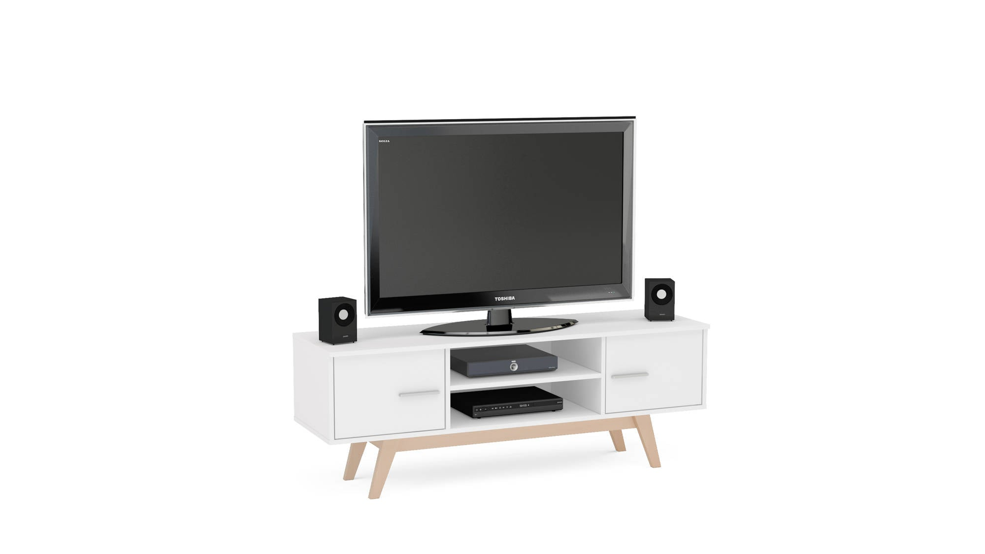 Hinde TV Unit in White - Ezzo