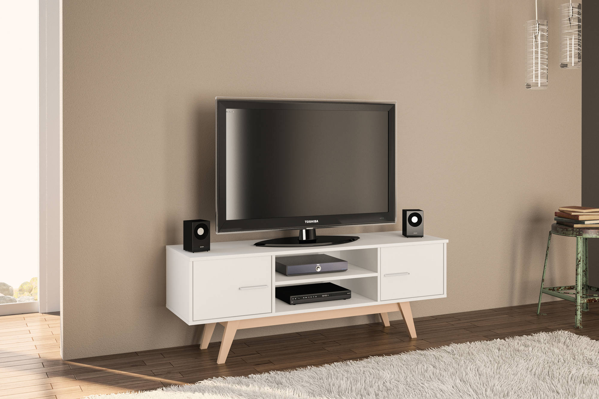 Hinde TV Unit in White