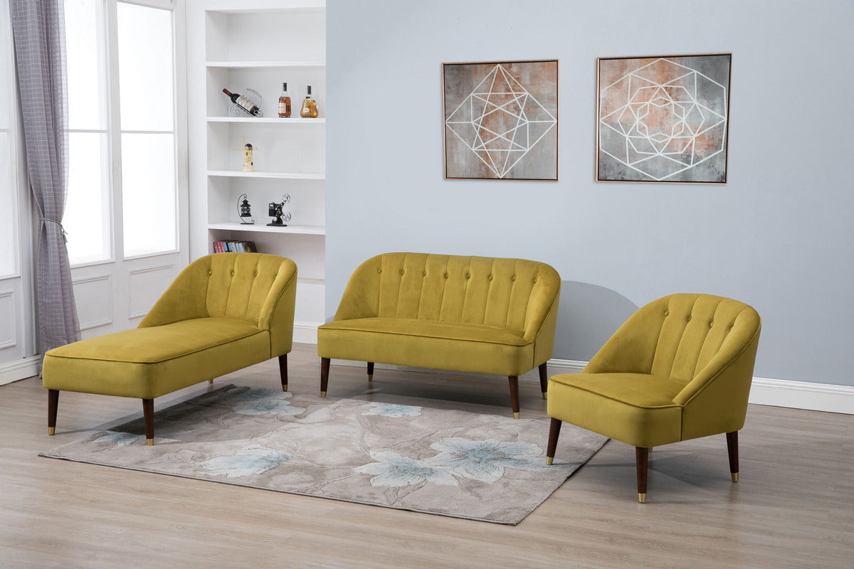 Honnold Chaise Longue in Mustard