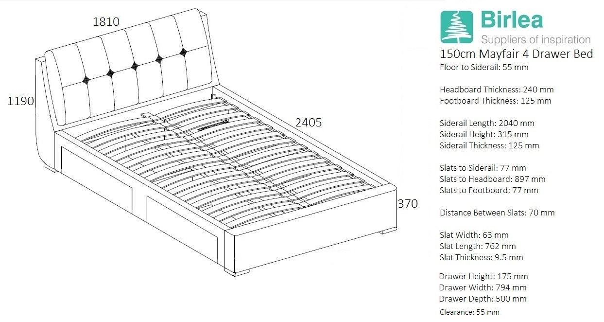 Hyde King Size Storage Bed - Ezzo