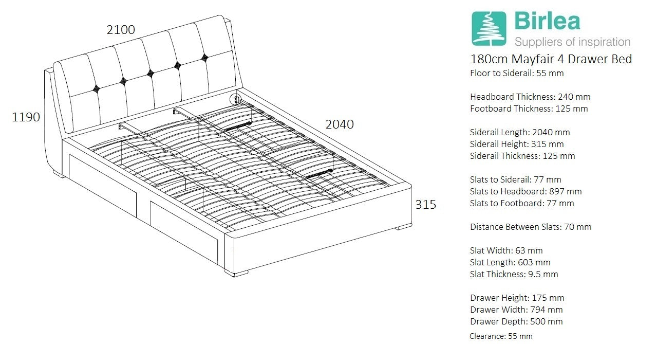 Hyde Super King Size Storage Bed
