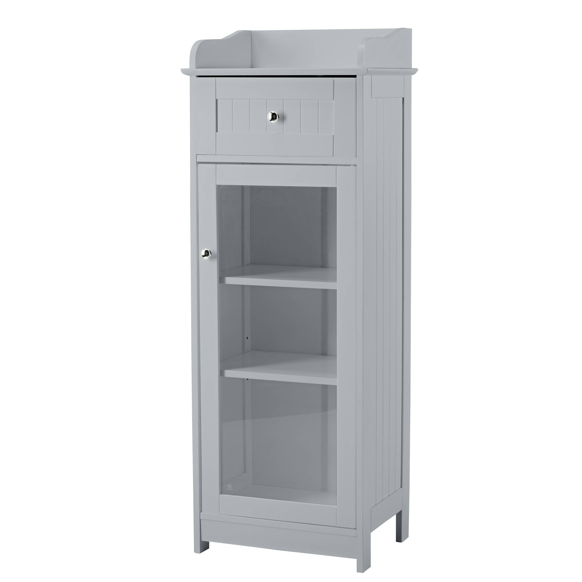 Kodiak Grey Glass Cabinet - Ezzo