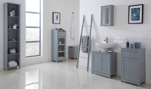 Kodiak Grey Tall Storage Unit - Ezzo