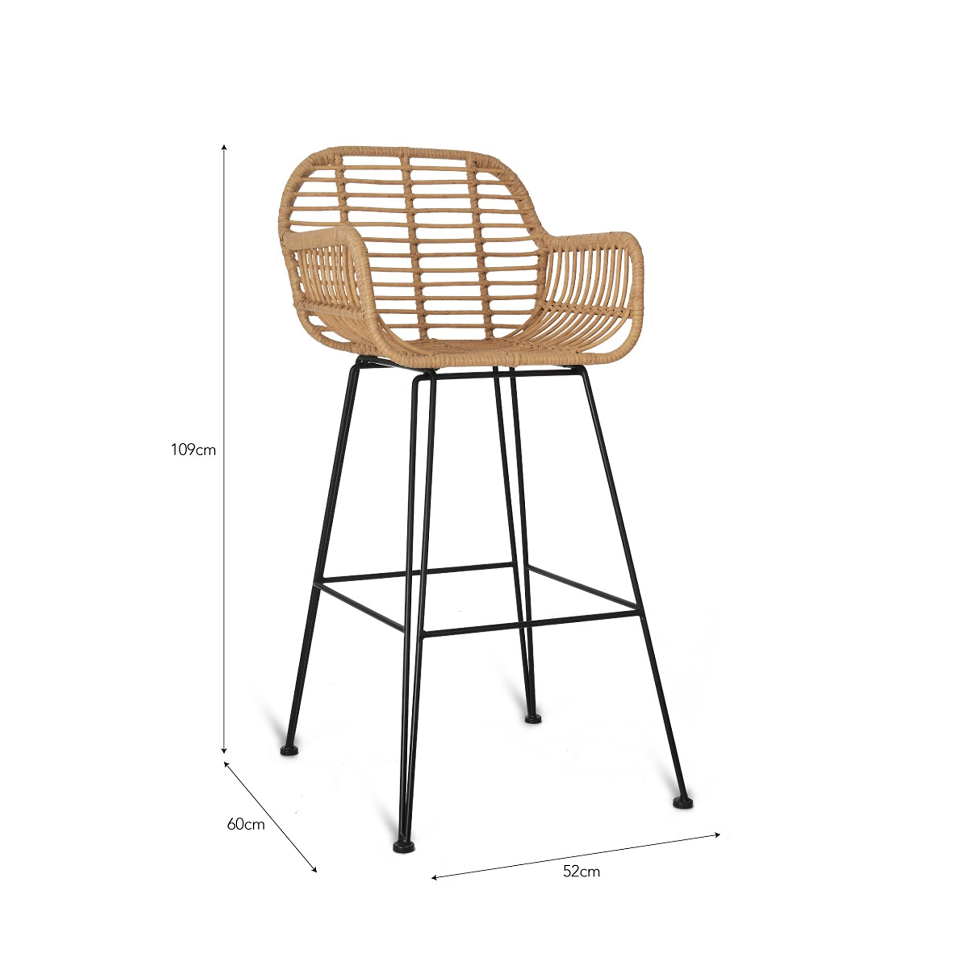 Keats Bamboo Bar Stool - Ezzo