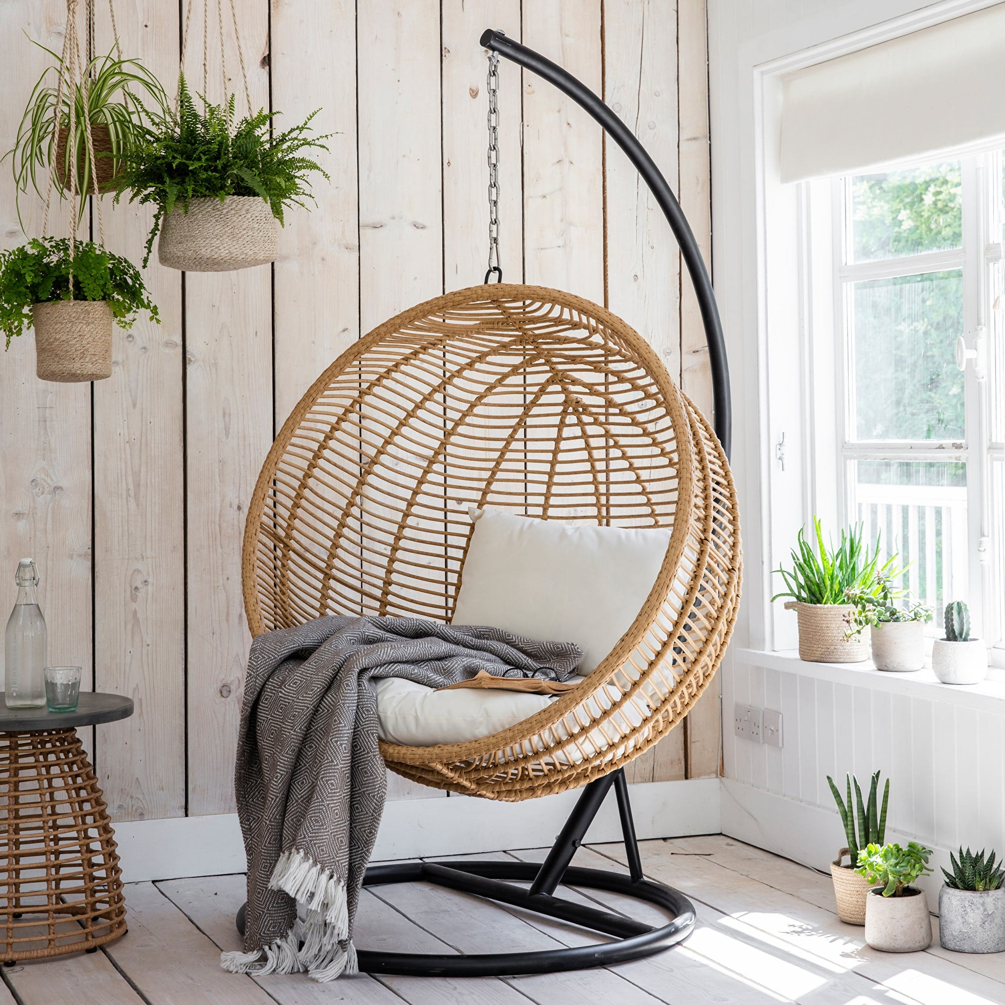 Keats Bamboo Hanging Nest Chair