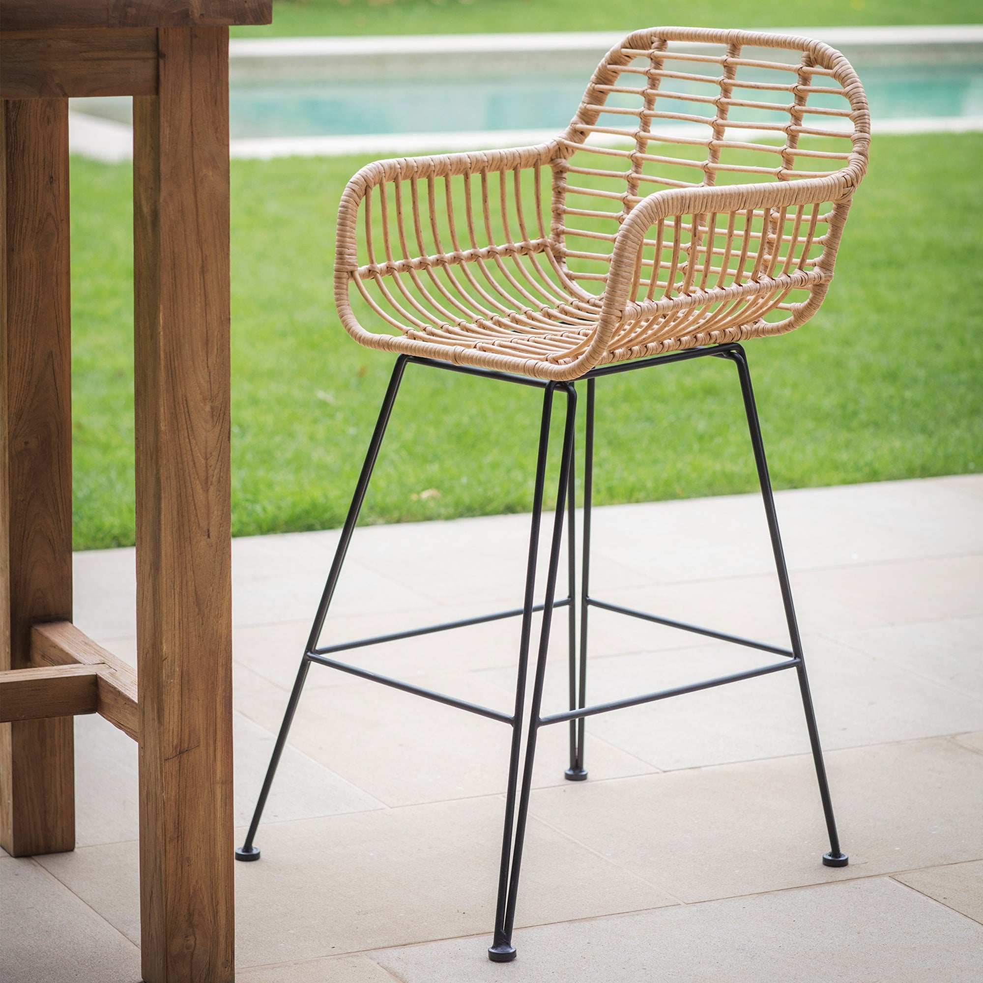 Keats Bamboo Bar Stool