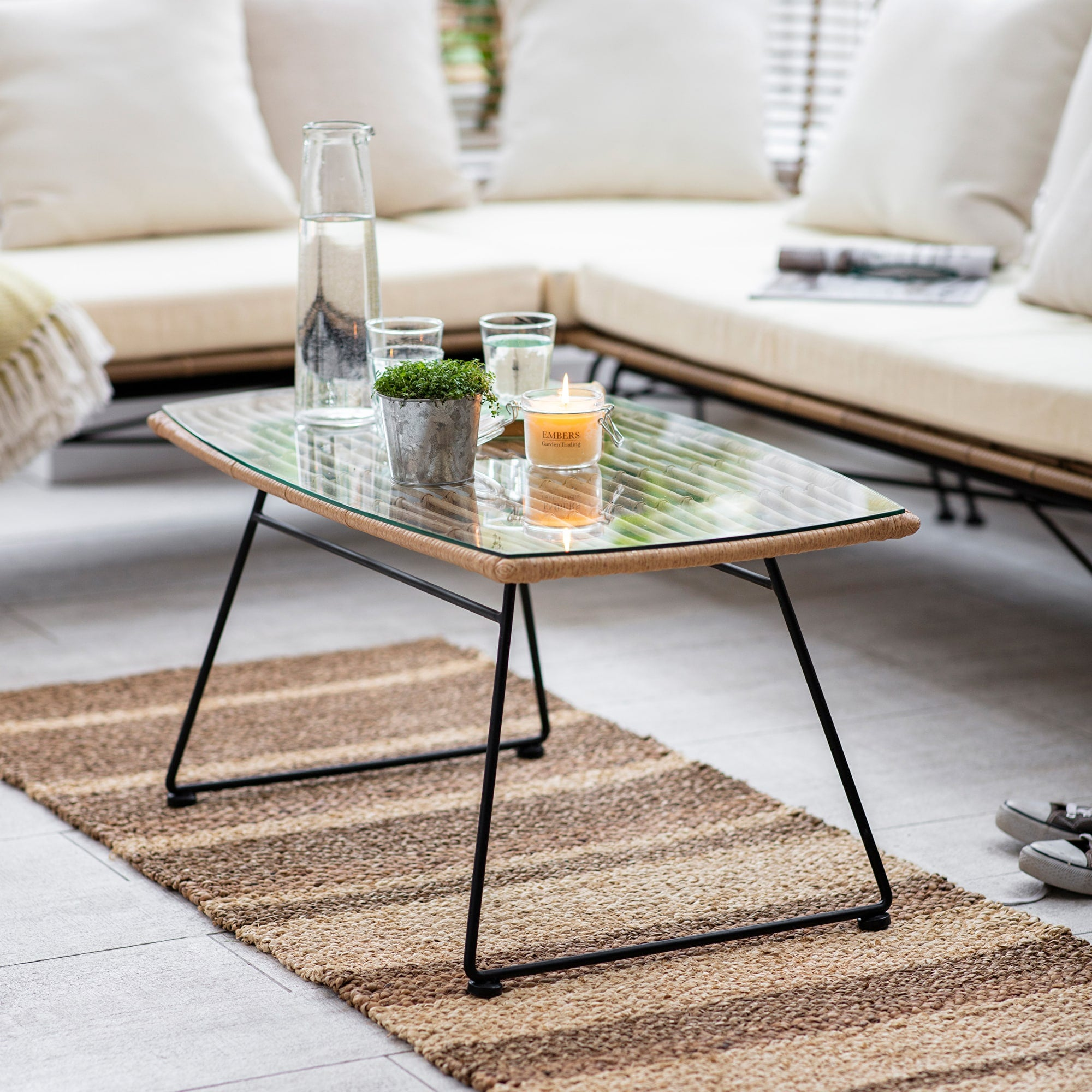 Keats Bamboo Coffee Table - Ezzo