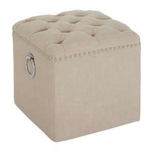 Kensington Townhouse Footstool in Beige