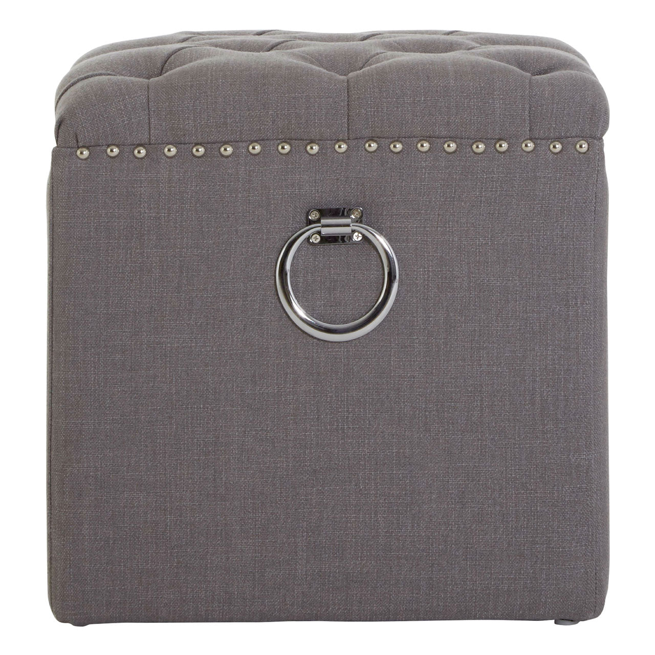 Kensington Townhouse Footstool in Grey
