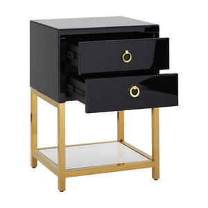 Kensington Townhouse Side Table in Gloss Black