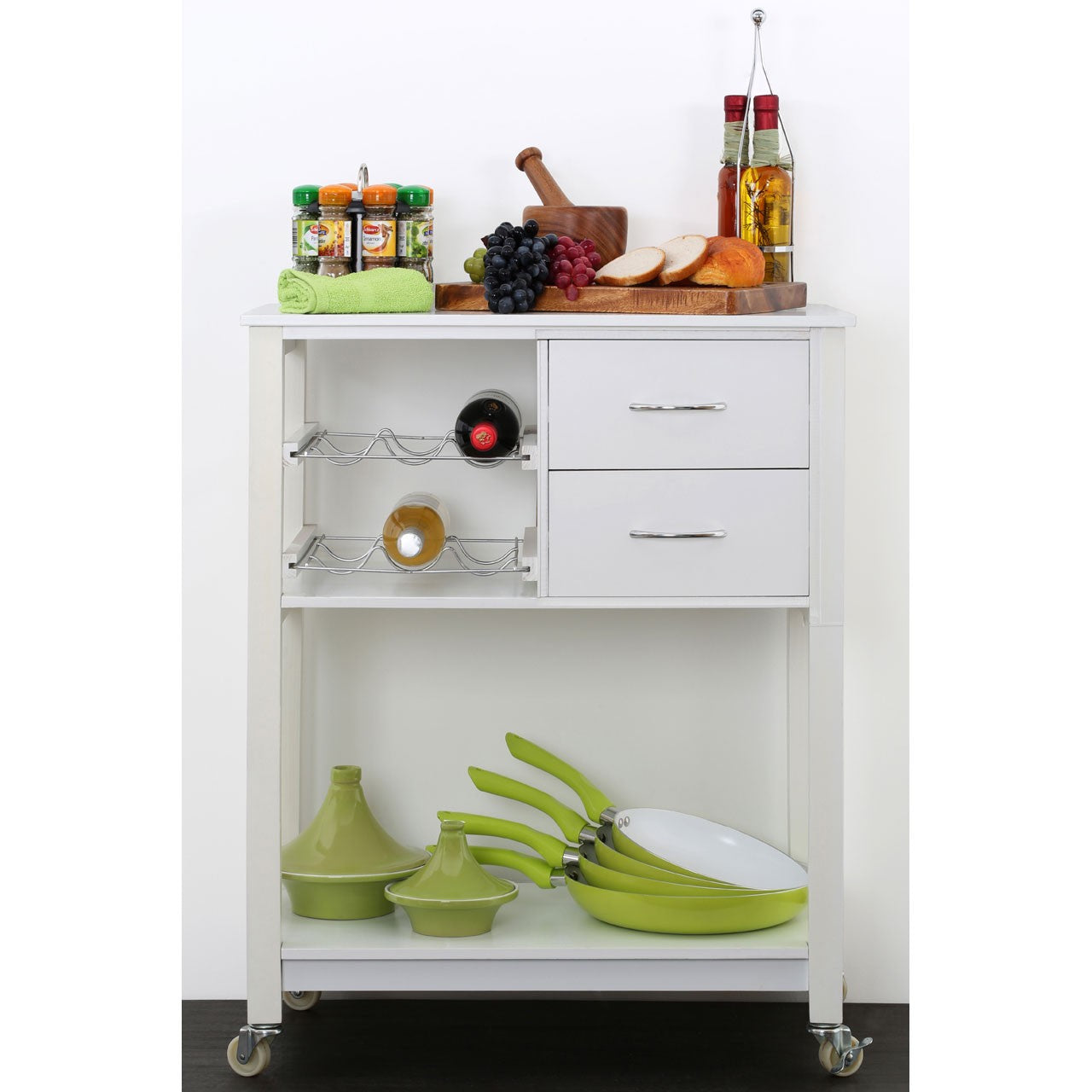 Kitchen Trolley in White