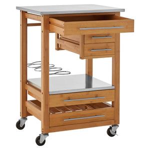 Kitchen Trolley in Bamboo
