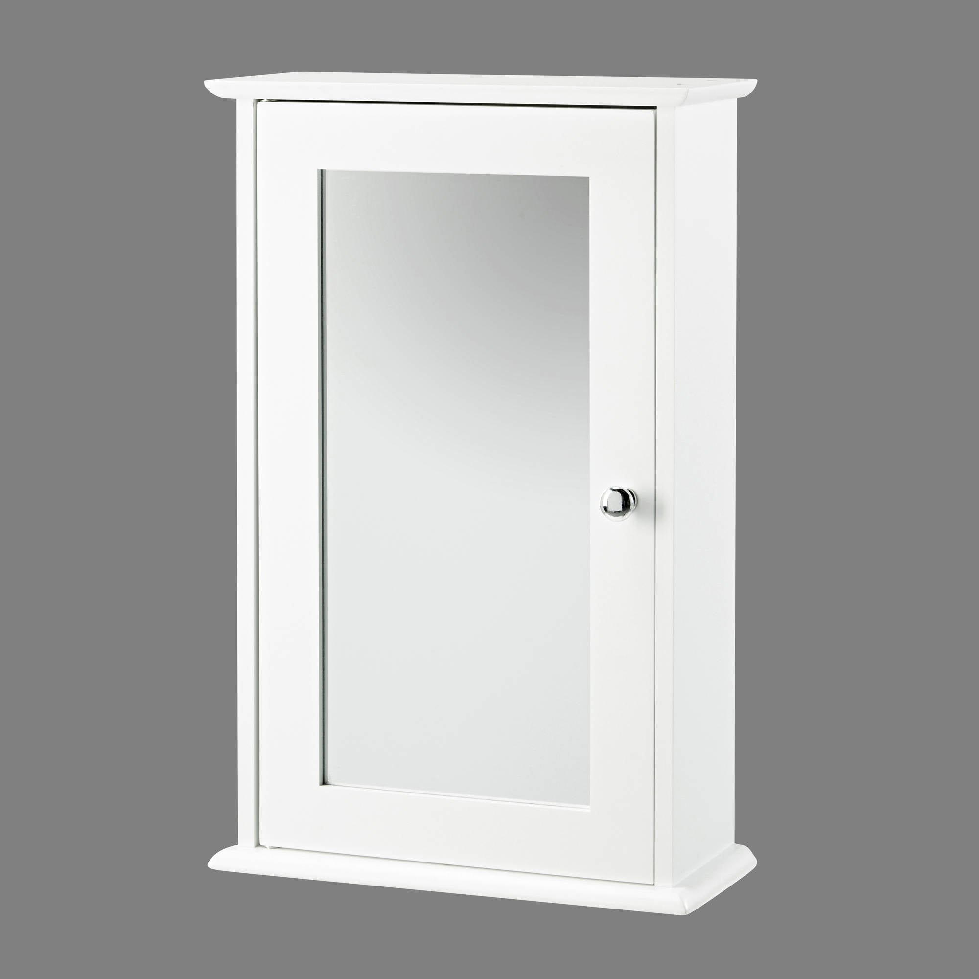 Kodiak White Mirrored Wall Cabinet - Ezzo