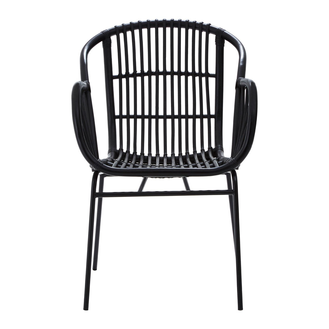 Lagom Rattan Chair in Black Iron