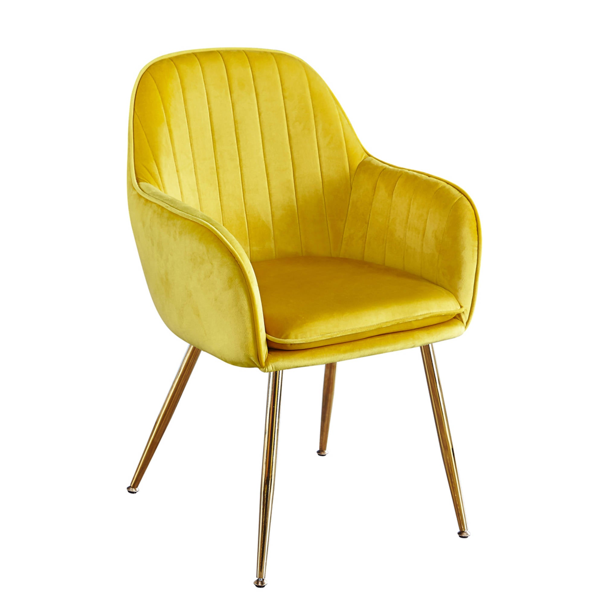 Lares Chairs in Ochre Yellow