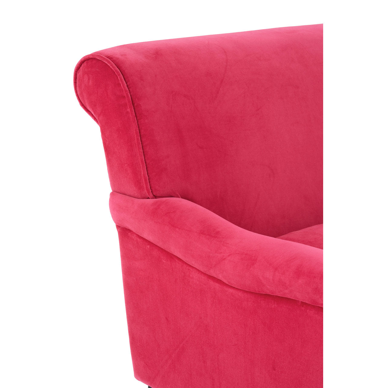 Large Pink Plush Velvet Chair