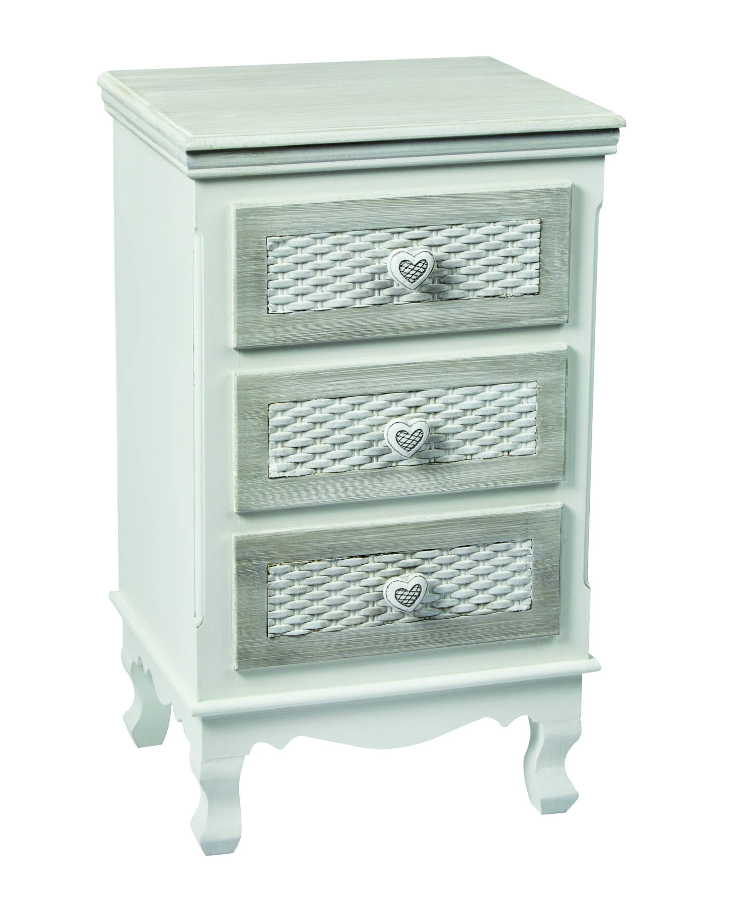 Lorient 3 Drawer Bedside Cabinet - Ezzo