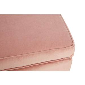 Louxor Pink Velvet Left Arm Chaise Longue
