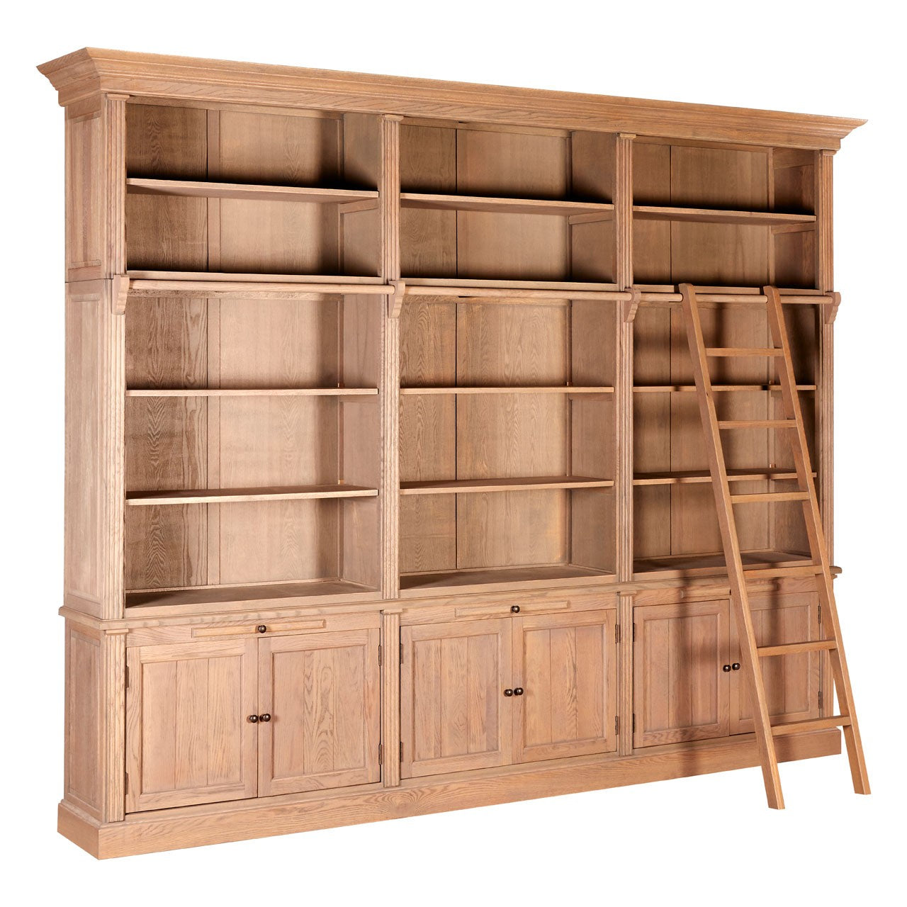 Lyon 3 Section Bookcase With Ladder
