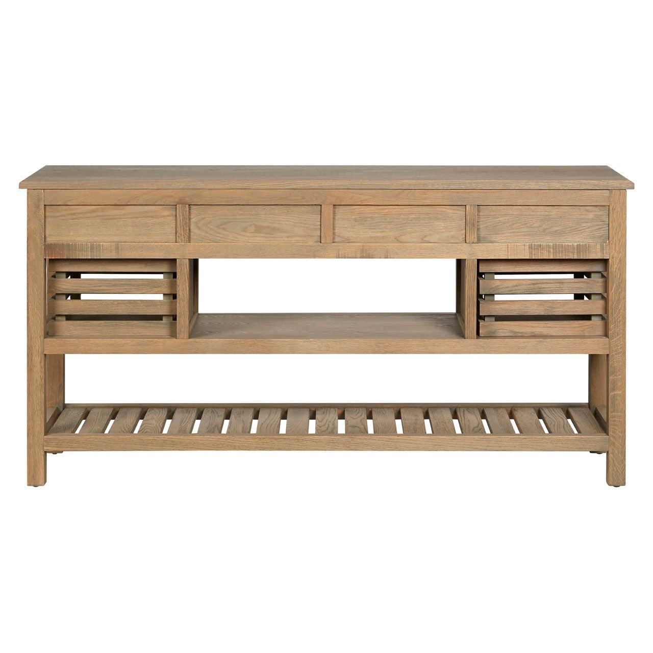 Lyon 6 Drawer Aged Grey Sideboard