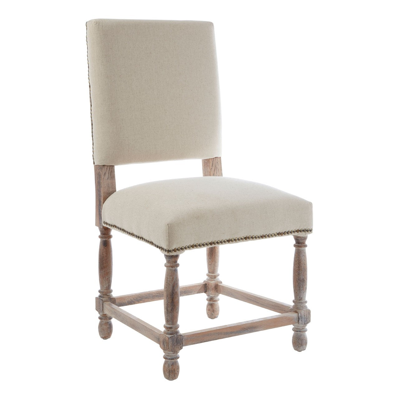 Lyon Grey Linen Dining Chair Pair