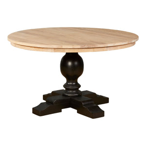 Lyon Whitewash Top and Black Dining Table