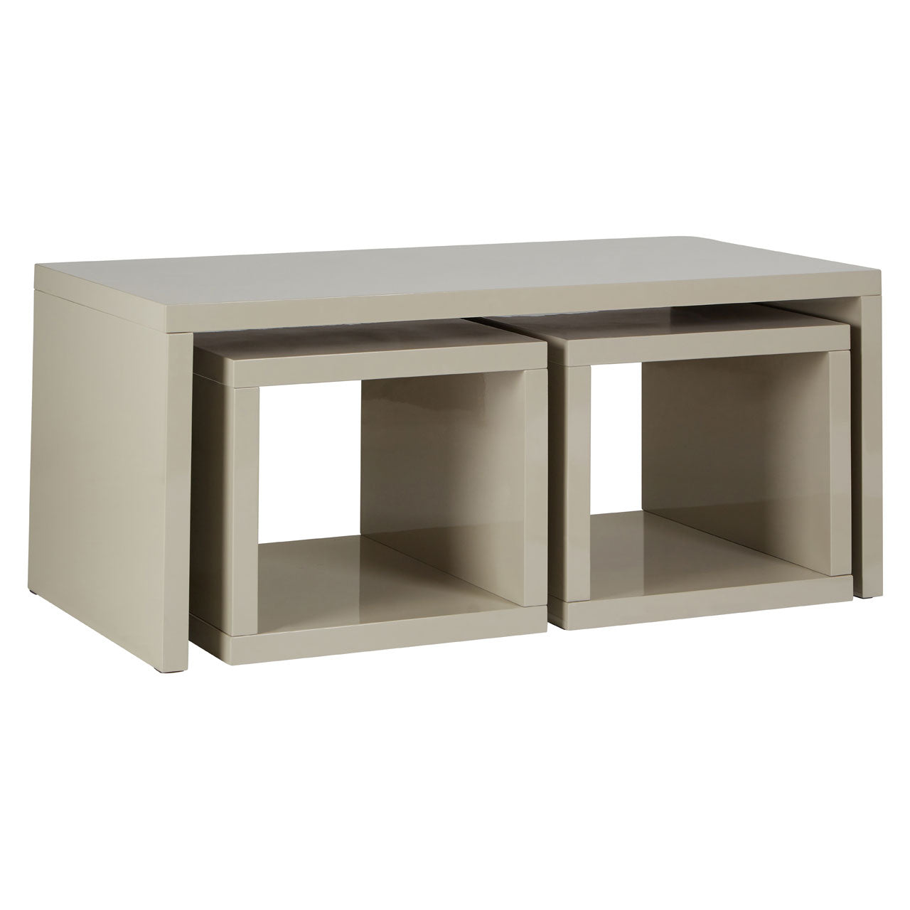 Madrid Coffee Table With 2 Under Tables