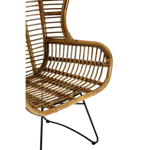 Manado Kubu Rattan and Iron Chair