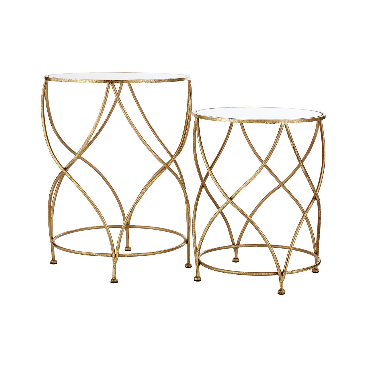 Marcia Mirrored Top Side Tables