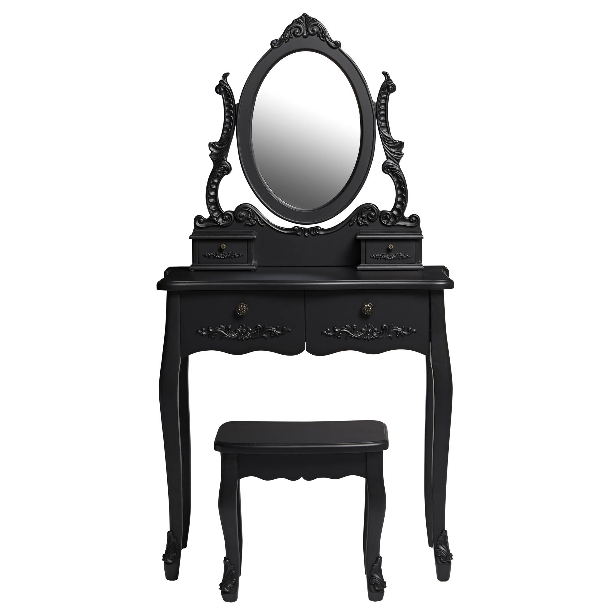 Marie Dressing Table with Mirror and Stool - Ezzo