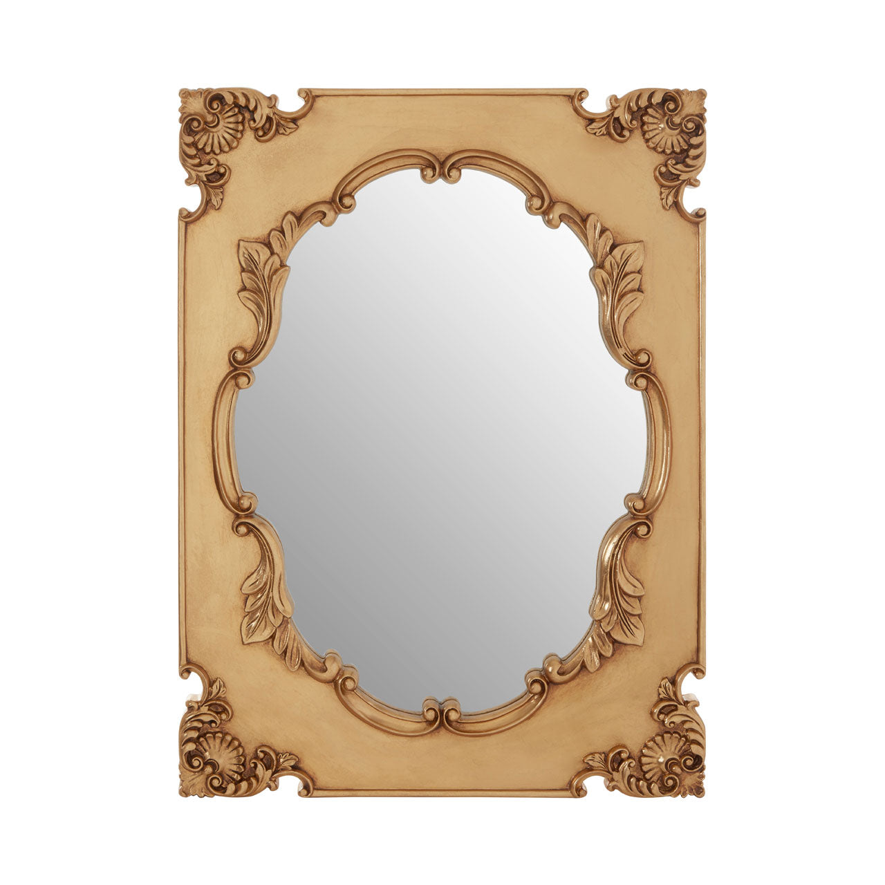 Marseille Cartouche Wall Mirror Gold