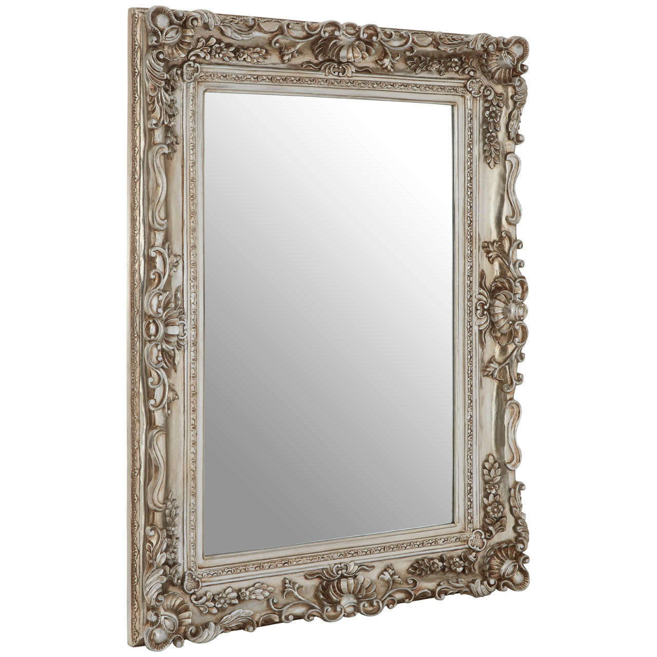 Marseille Wall Mirror Distressed Champagne