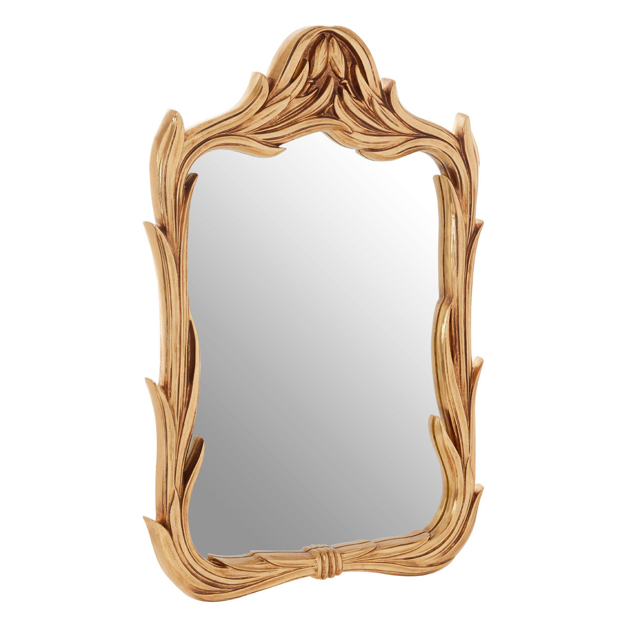 Marseille Floral Wall Mirror Gold