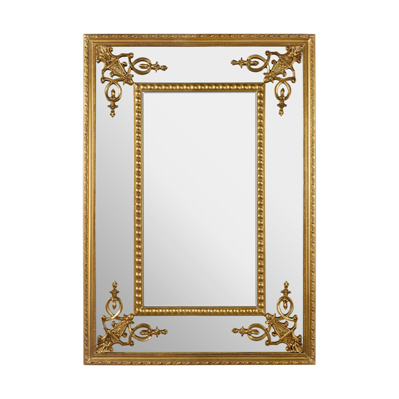 Marseille Palmette Wall Mirror Gold