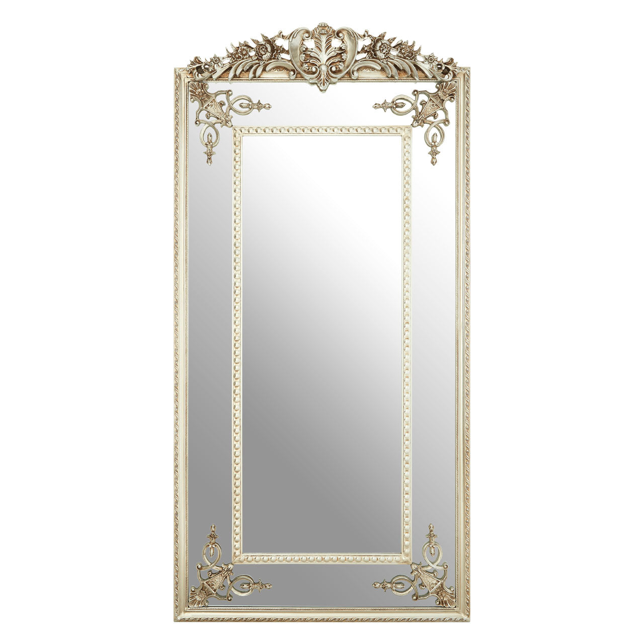 Marseille Wall Mirror in Distressed Champagne