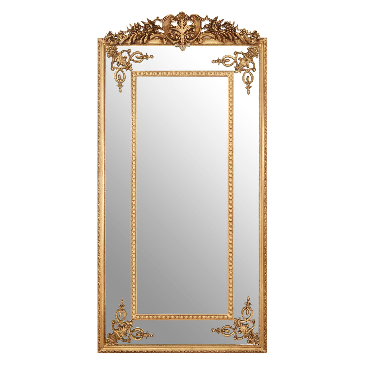 Marseille Beaded Wall Mirror Gold