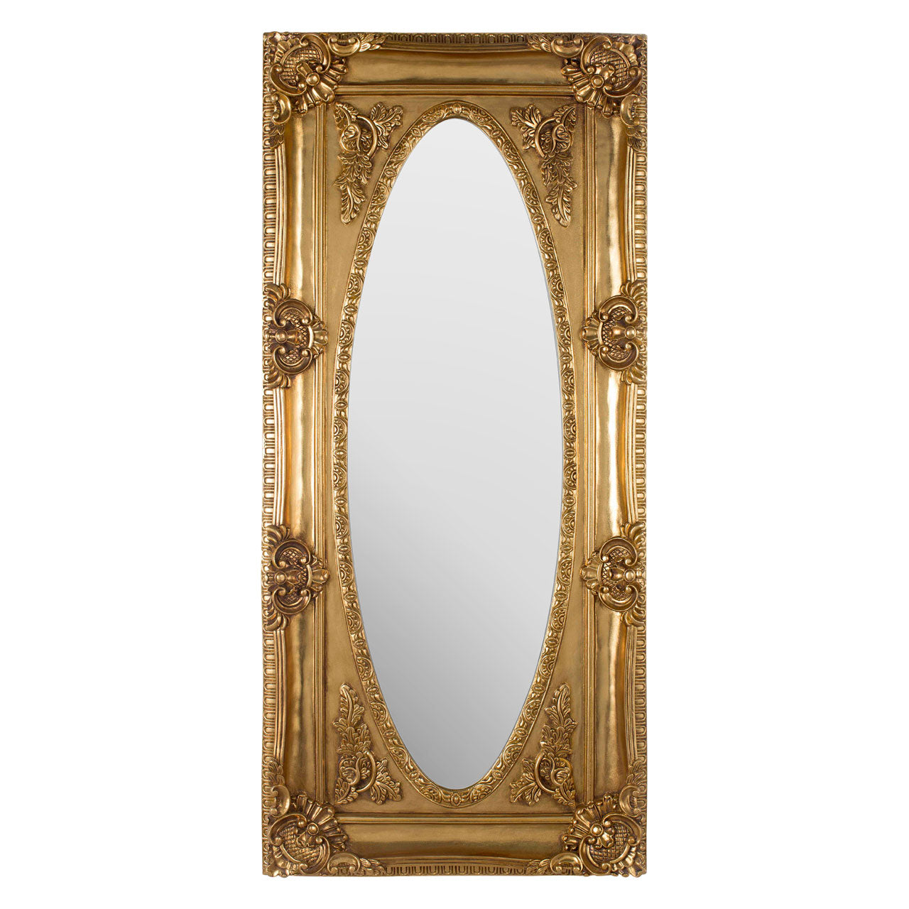 Marseille Wall Mirror Distressed Gold
