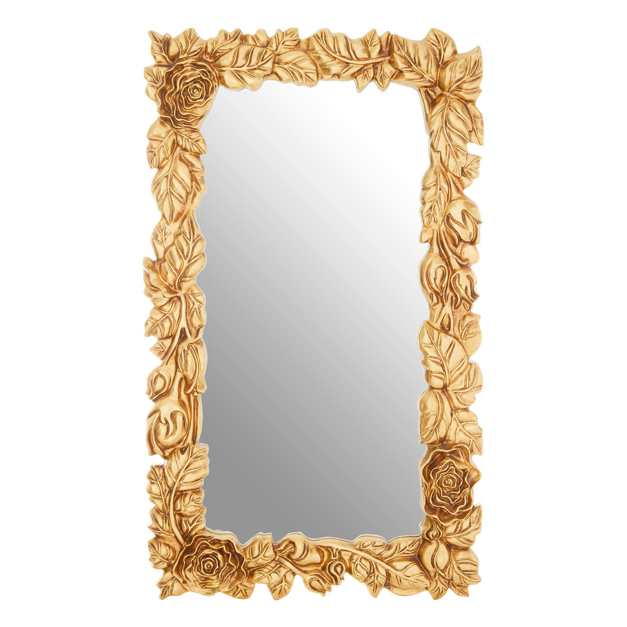 Marseille Leaf Wall Mirror Gold