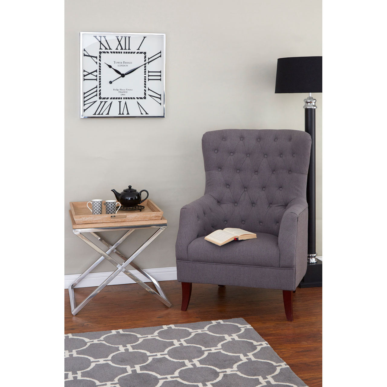 Mayfair Armchair in Grey
