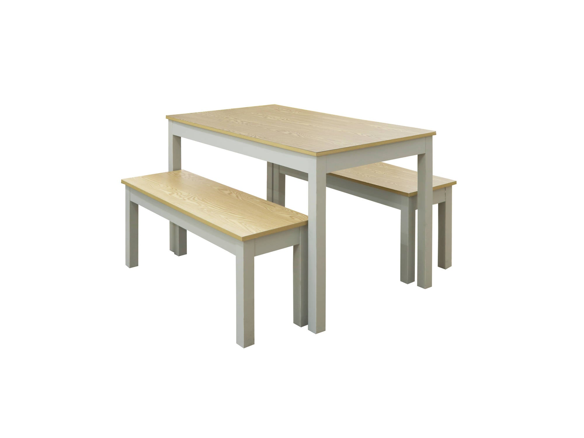 Medina Dining Set in Oak and Grey - Ezzo
