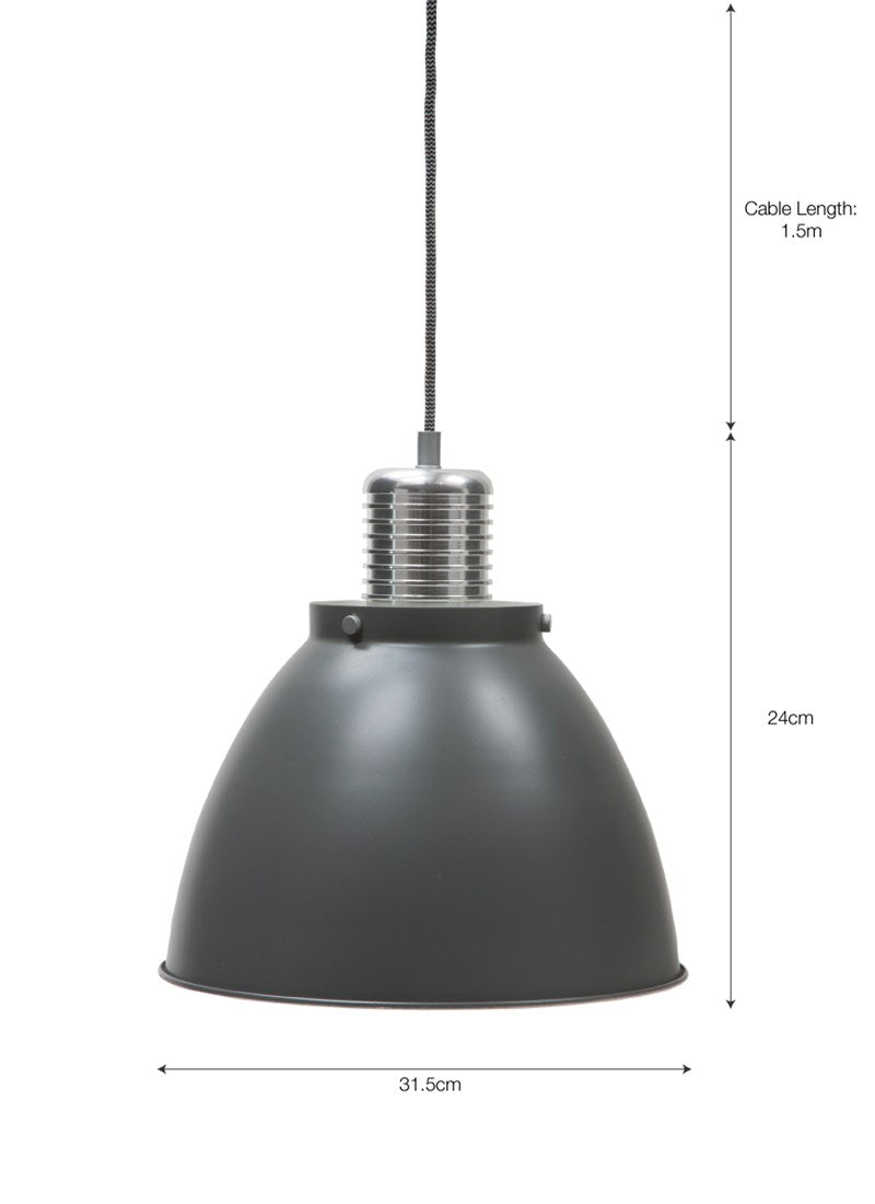 Meriden Pendant Light Charcoal - Ezzo