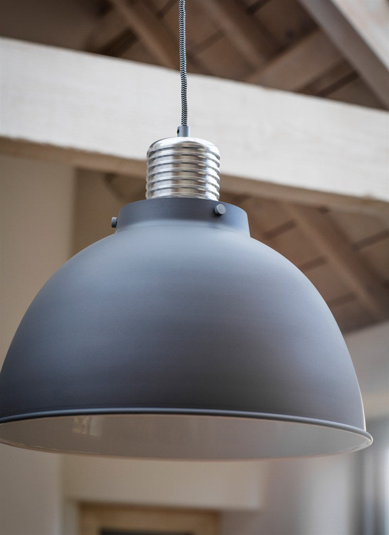 Meriden Pendant Light Large in Charcoal