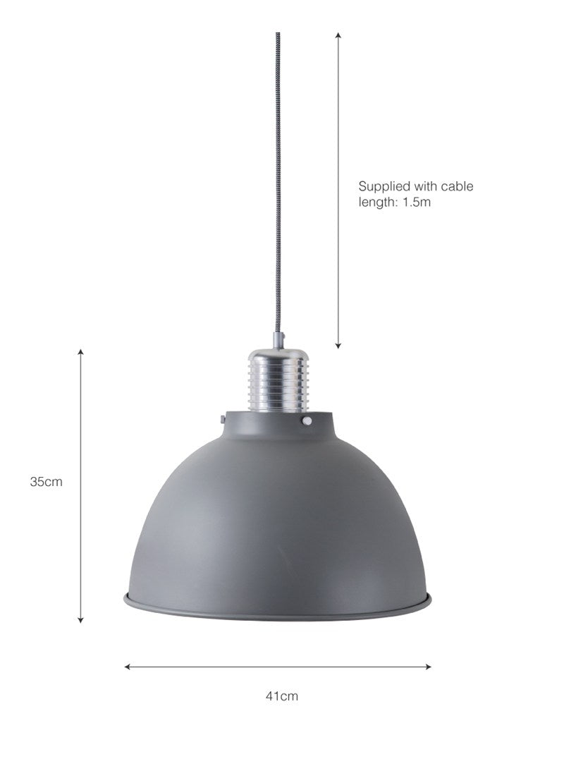 Meriden Pendant Light Large in Charcoal - Ezzo