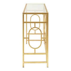 Merlin Console Table Gold Leaf