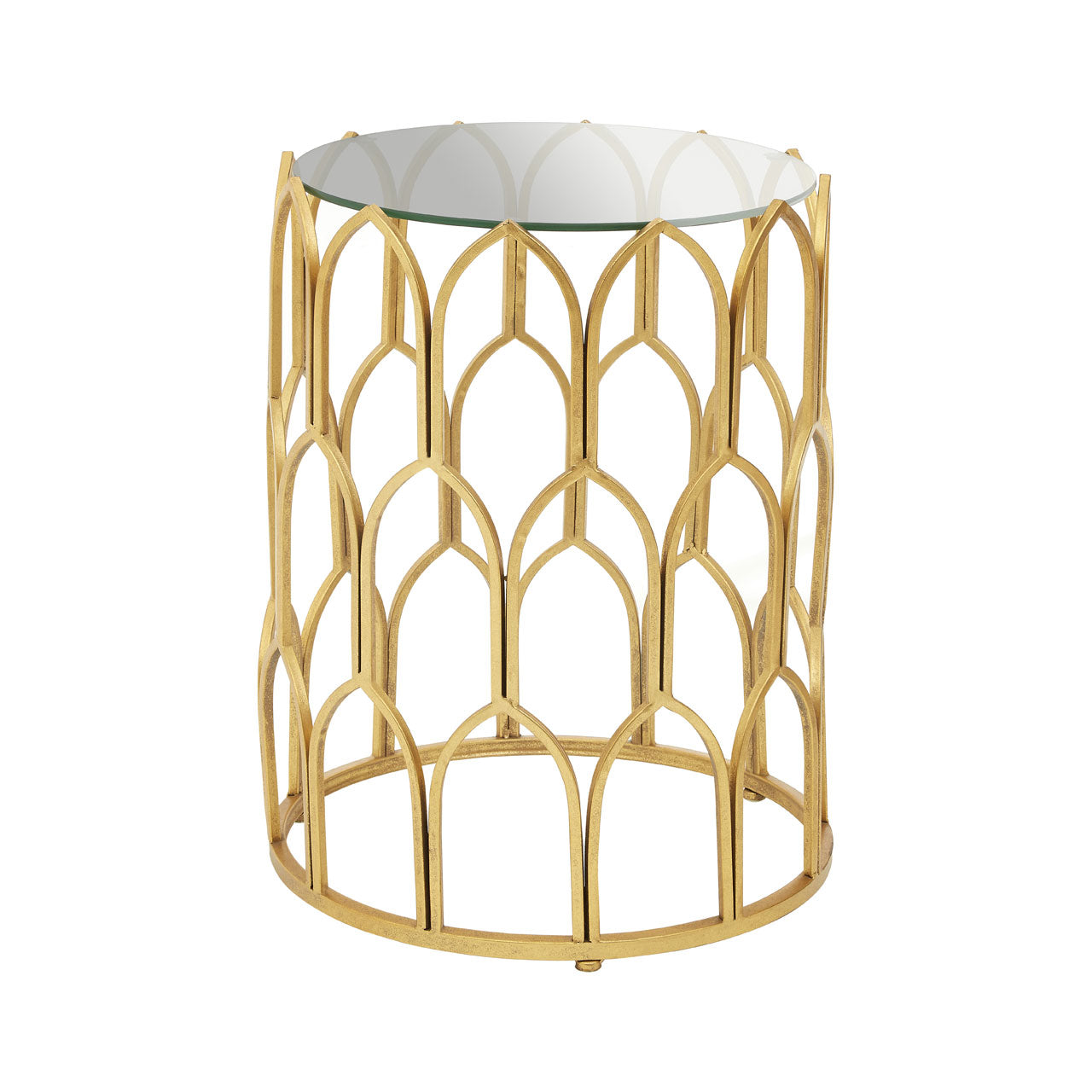 Merlin Side Table Gold Leaf